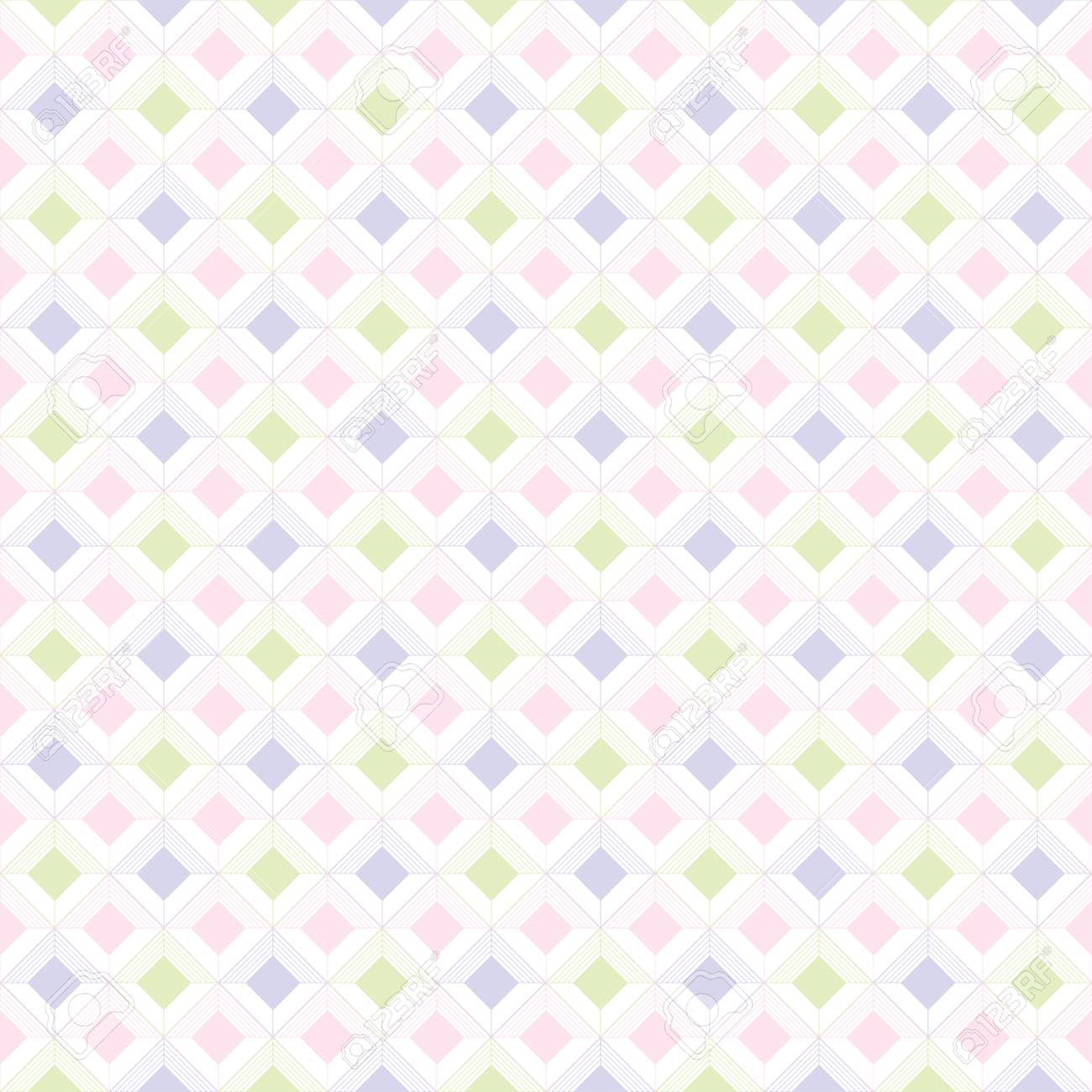 Bebe Seamless Enfants Pastel Geometriques Textures Ornement Retro