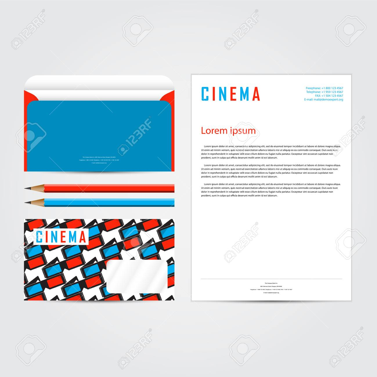 Cinema 3d corporate concept identity template set business cinema 3d corporate concept identity template set business stationery mock up branding design spiritdancerdesigns Image collections