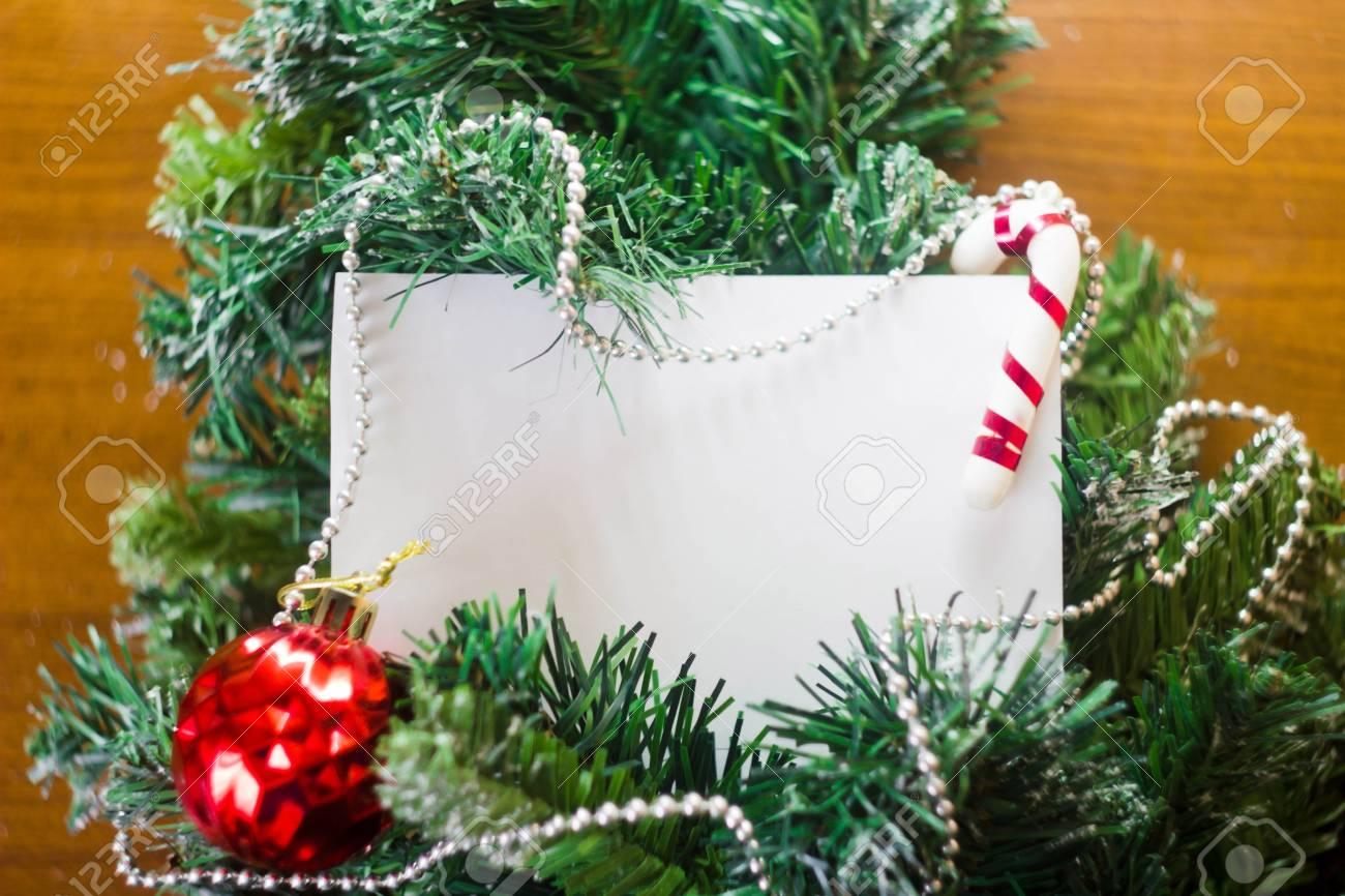 Carte De Visite Noel Pour Un Amusement Et Elegant Banque DImages
