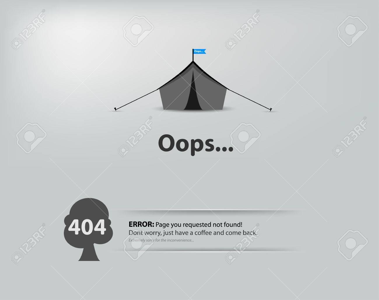 Page non trouvée, erreur 404. 404 erreur de connexion.