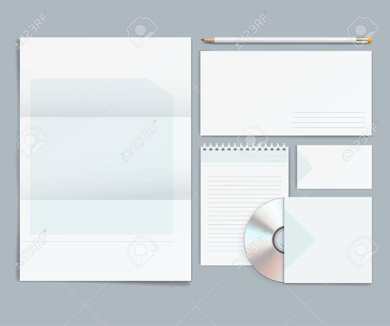 Vector corporate identity templates letterhead envelope business vector corporate identity templates letterhead envelope business card pencils cd flashek Choice Image