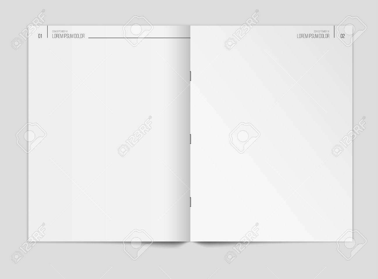 Plantilla De Periódico En Blanco Sobre Fondo Gris. Ilustración Del ...