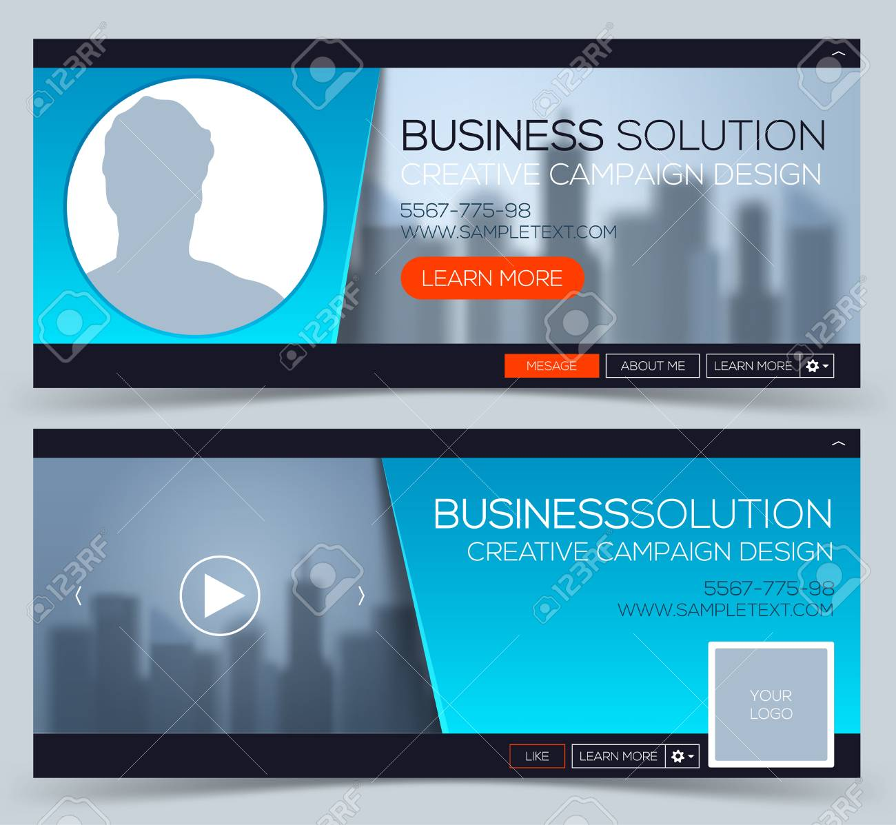 Web Banner, Header Layout Template. Creative Timeline Cover ...