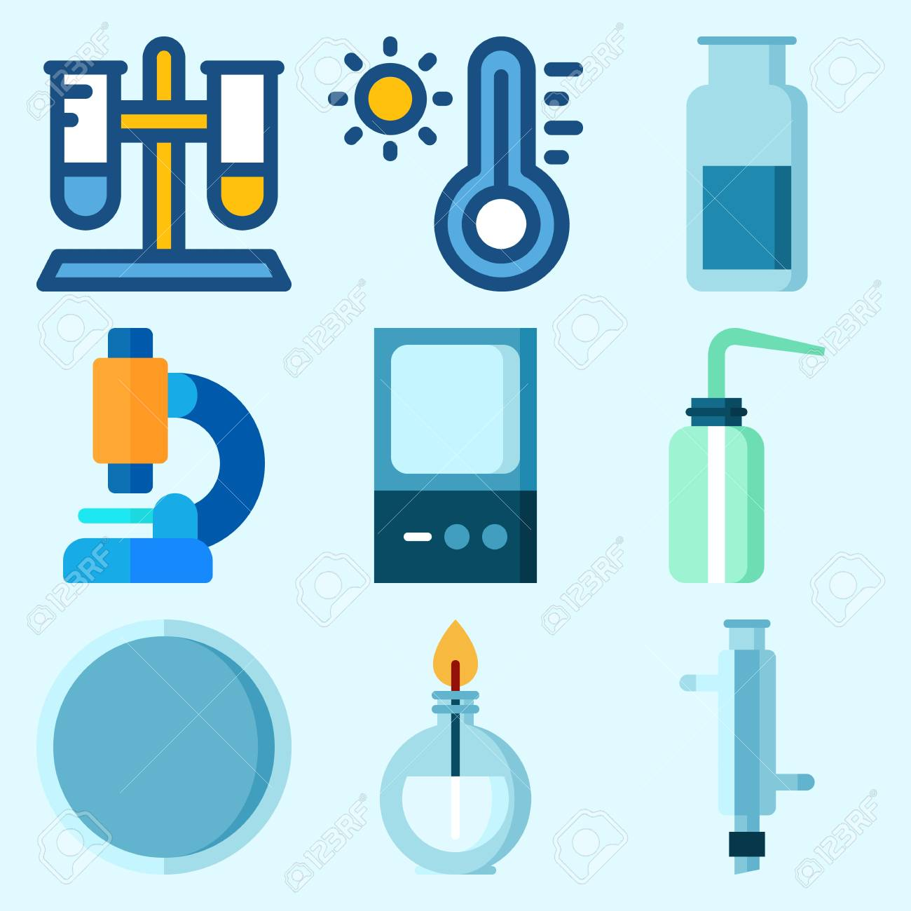 Glass Tube Thermometer Clip Art