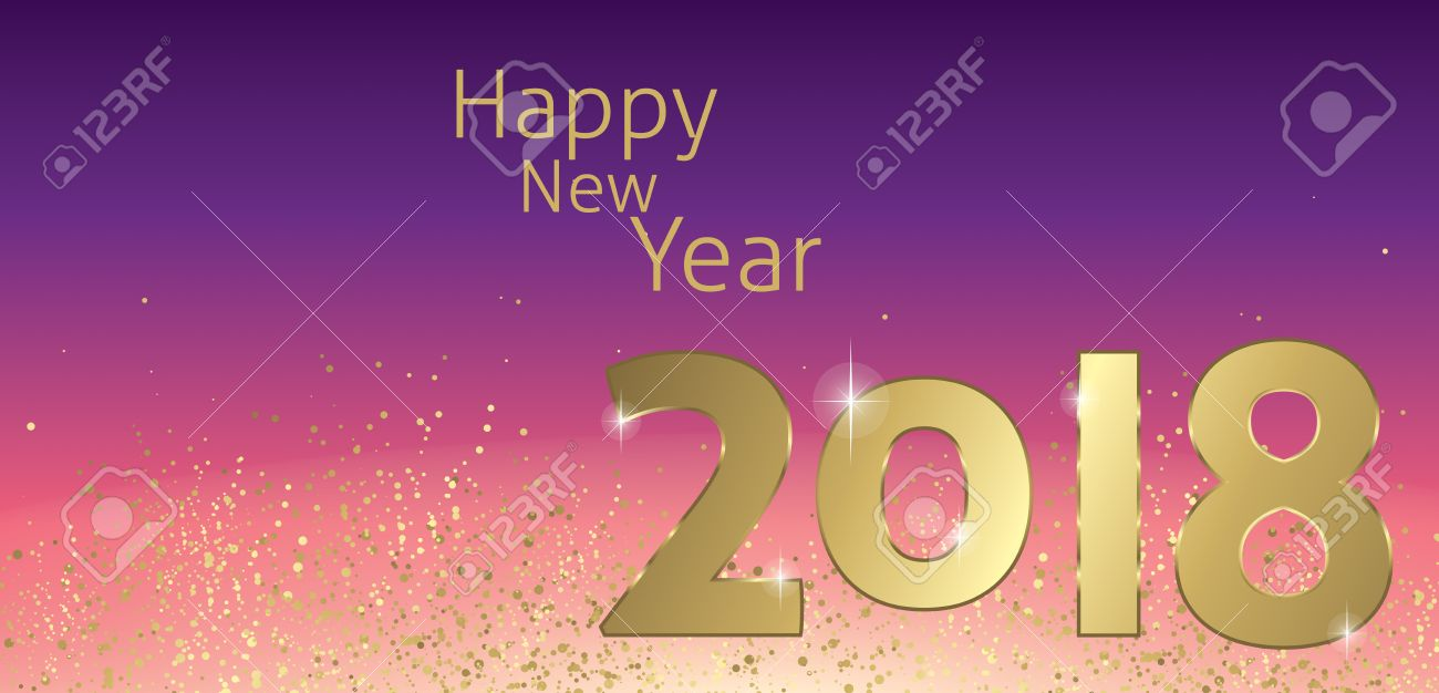 happy new year 2018 greeting card vector stock vector 80111837