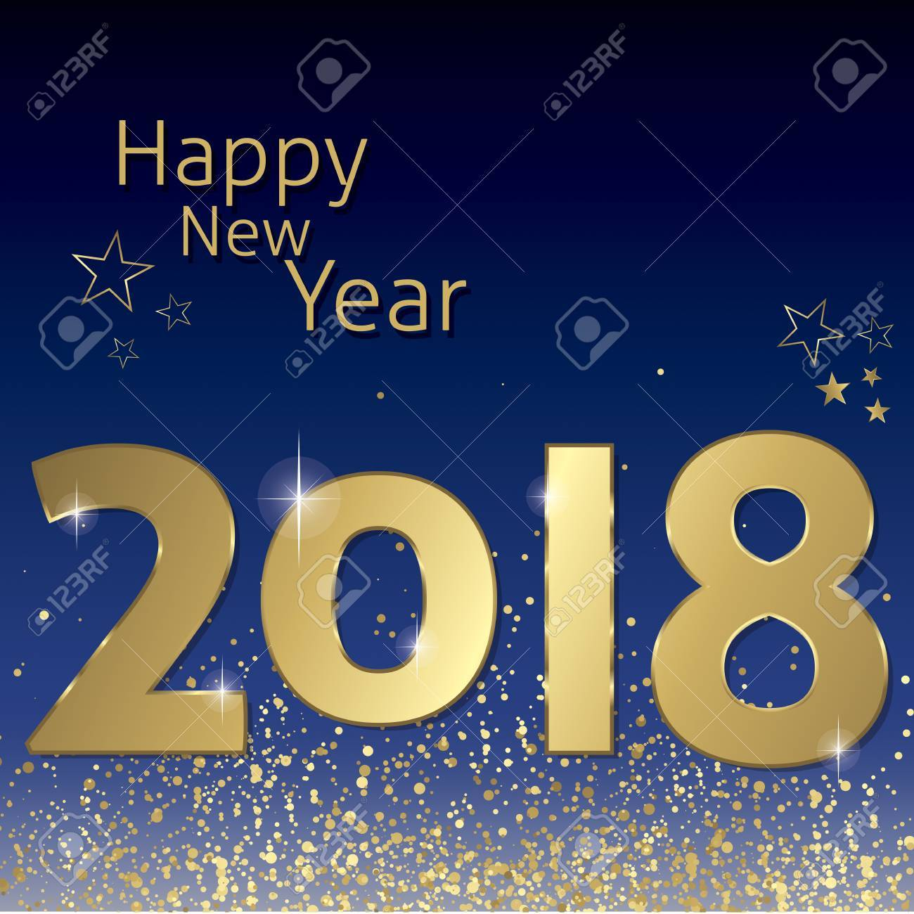happy new year 2018 greeting card vector stock vector 80110995