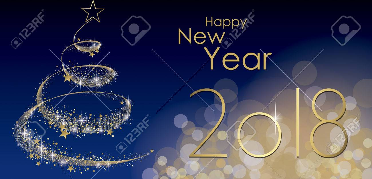happy new year 2018 greeting card vector stock vector 80998661