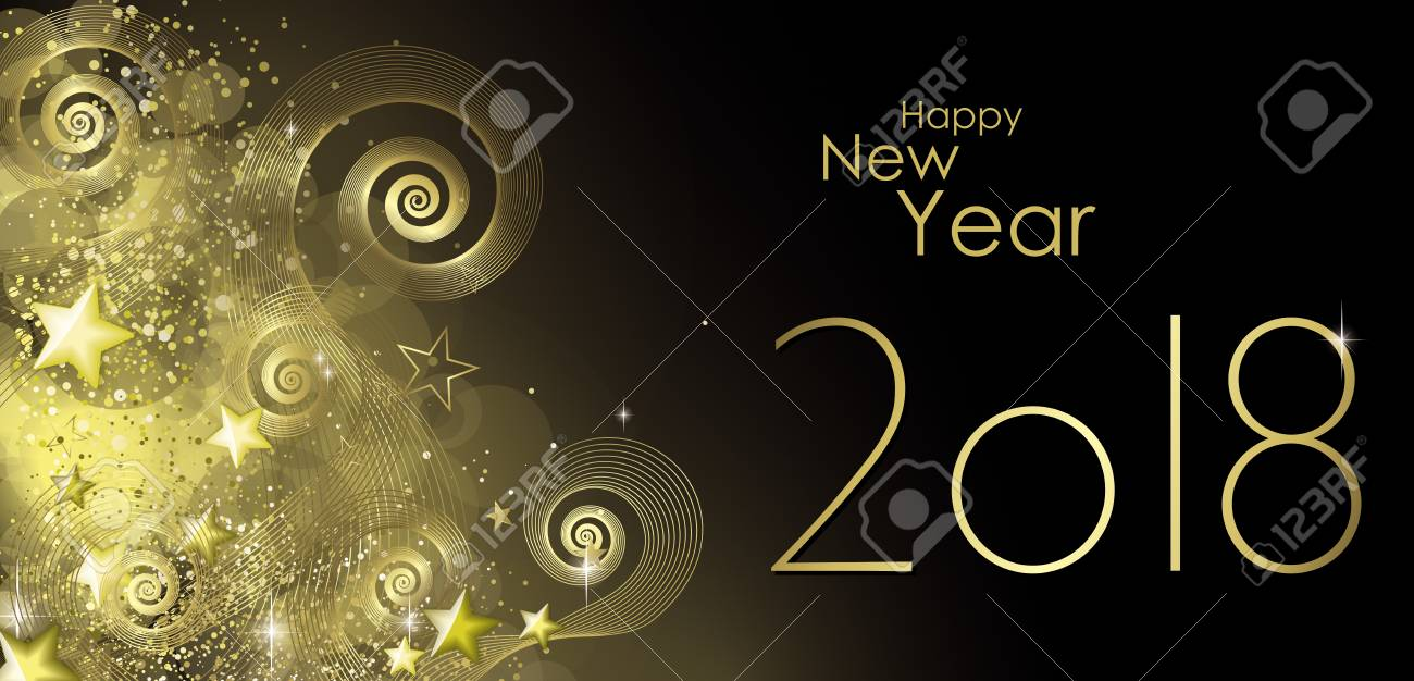 happy new year 2018 greeting card vector stock vector 87847896