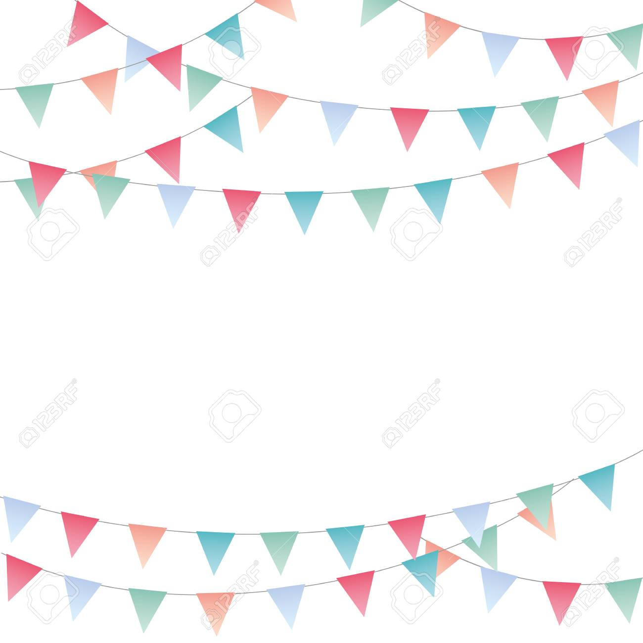 Sweet festive party pennants banner - 122497790
