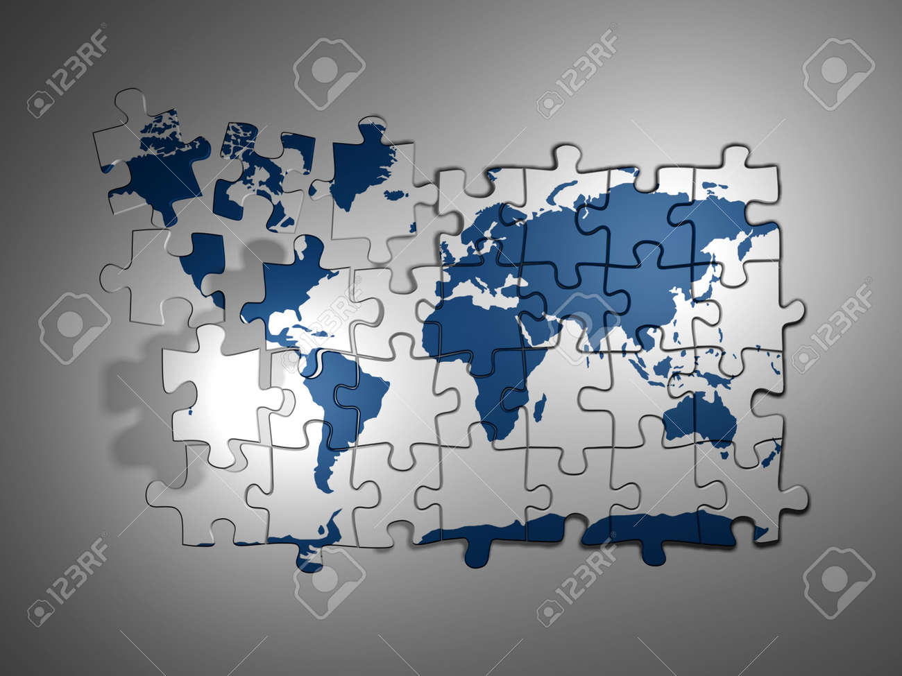 Puzzle World Map 3d Render Photo Picture And Royalty Free – Map World Puzzle