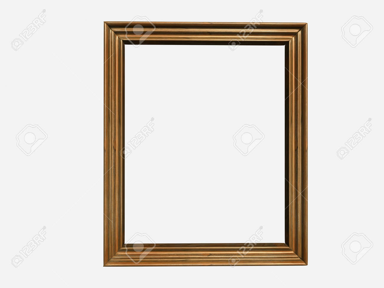 An Empty Canvas Frame Isolated On White Background - 3d Render Stock ...