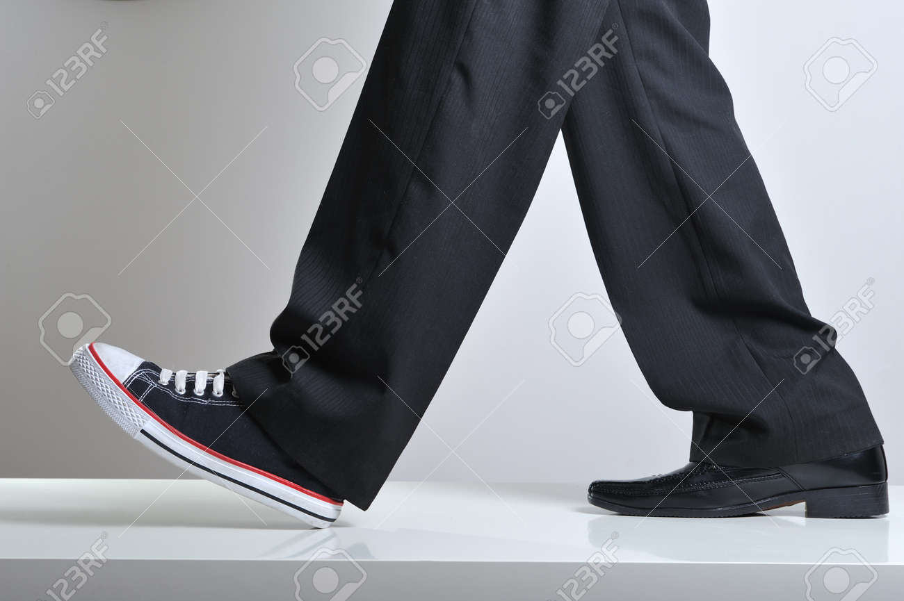 Walking Legs With Business Shoe In A