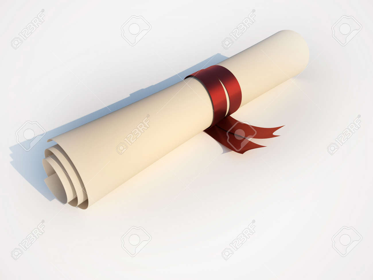 A Graduation Certificate With Ribbon 3d Render Photo – Graduation Certificate
