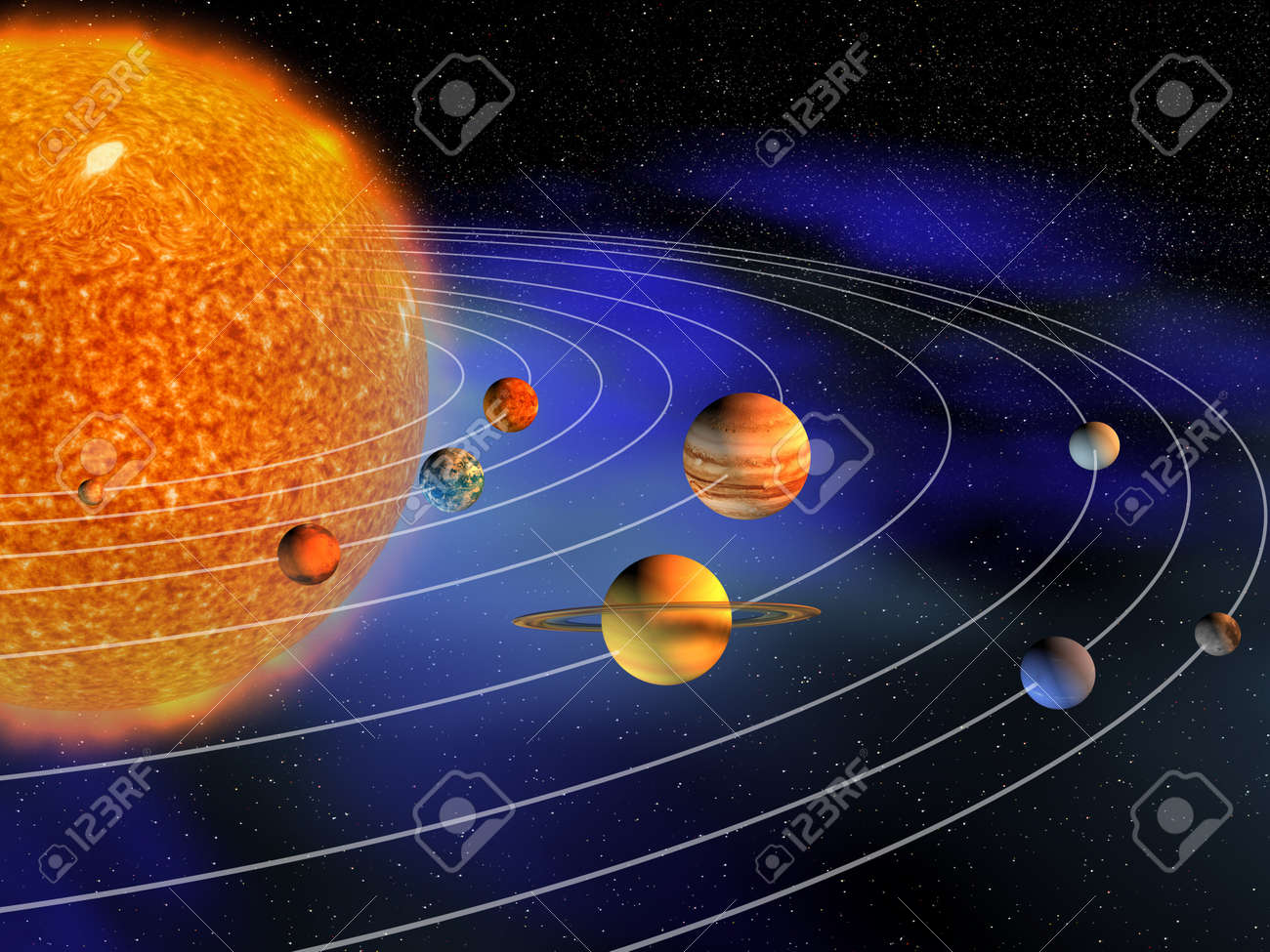Diagram of planets in solar system 3d render stock photo picture diagram of planets in solar system 3d render stock photo 8041815 ccuart Image collections