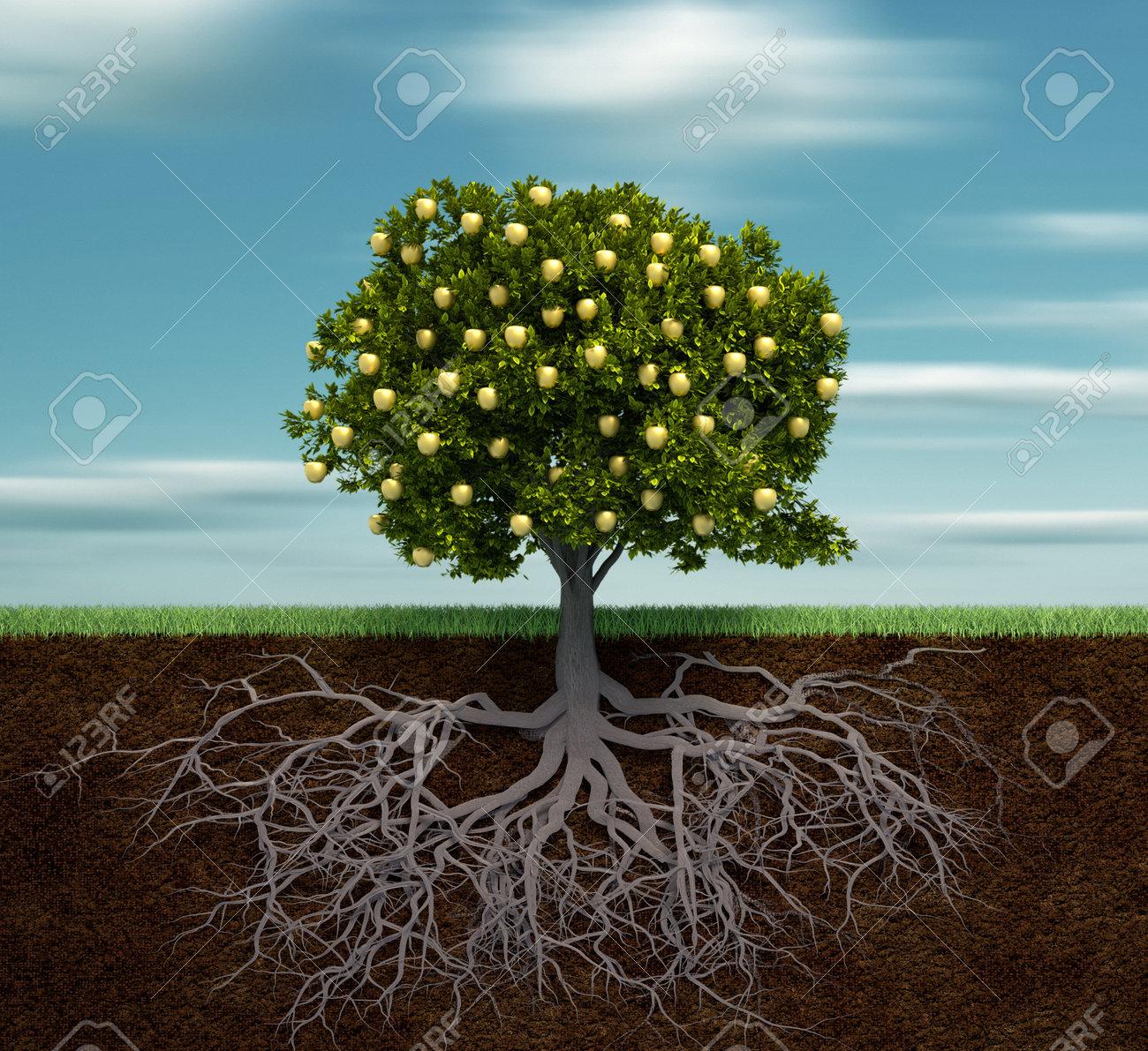 Apple Tree Tree With Golden