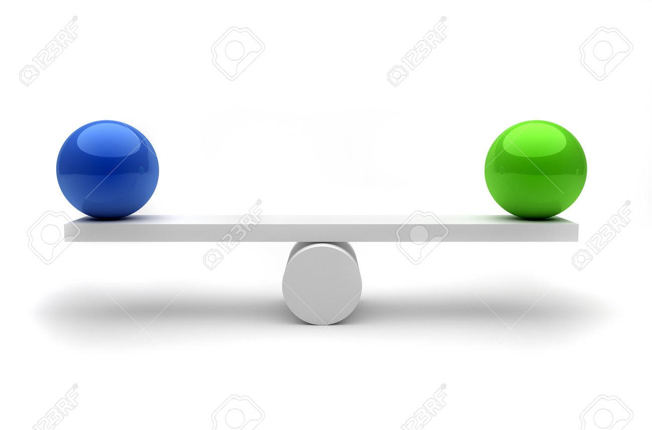 2 つの球の平衡における - これ...
