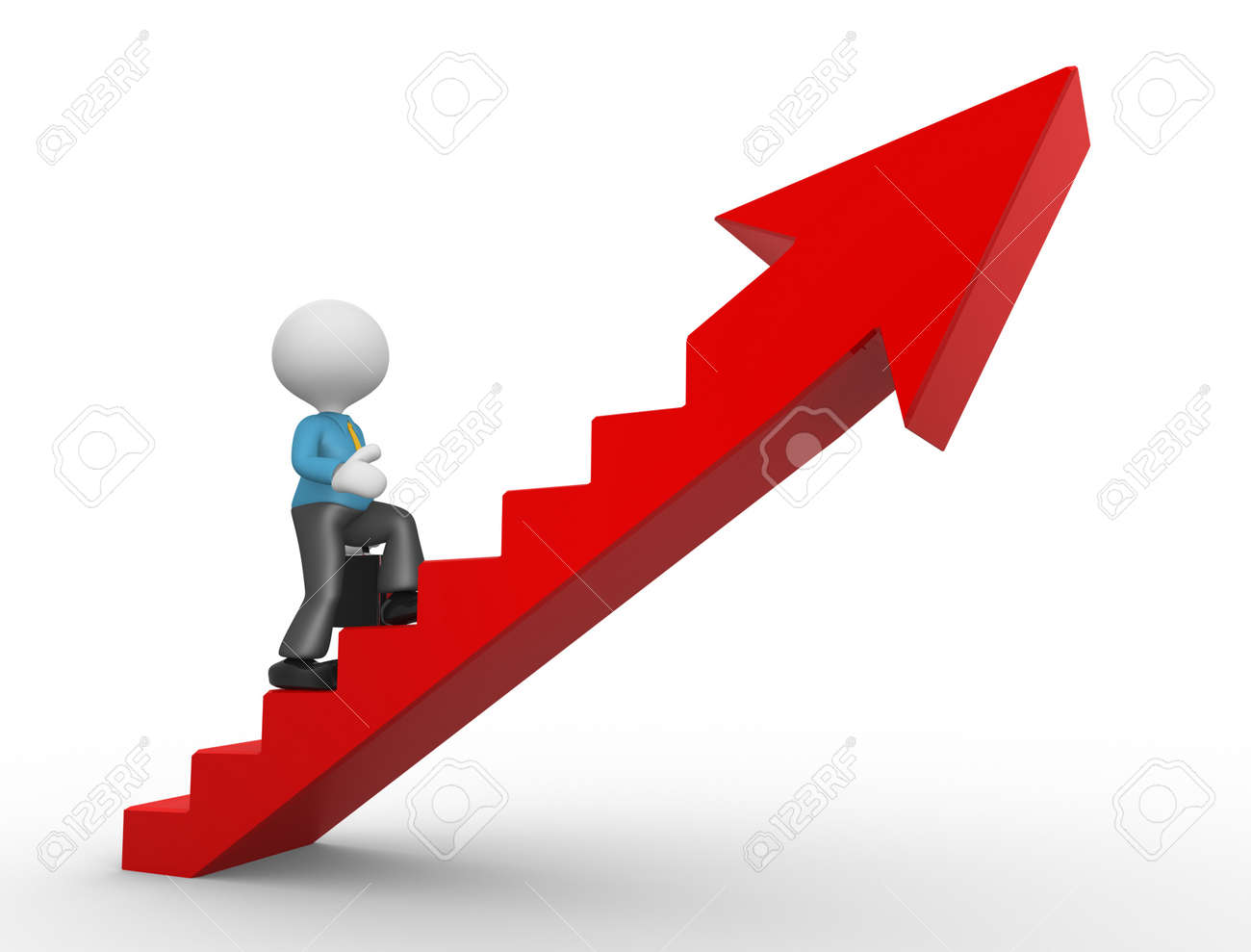 3d People - Man, Person Climbing Stairs And An Arrow . To Success ... for Climbing Stairs To Success  104xkb