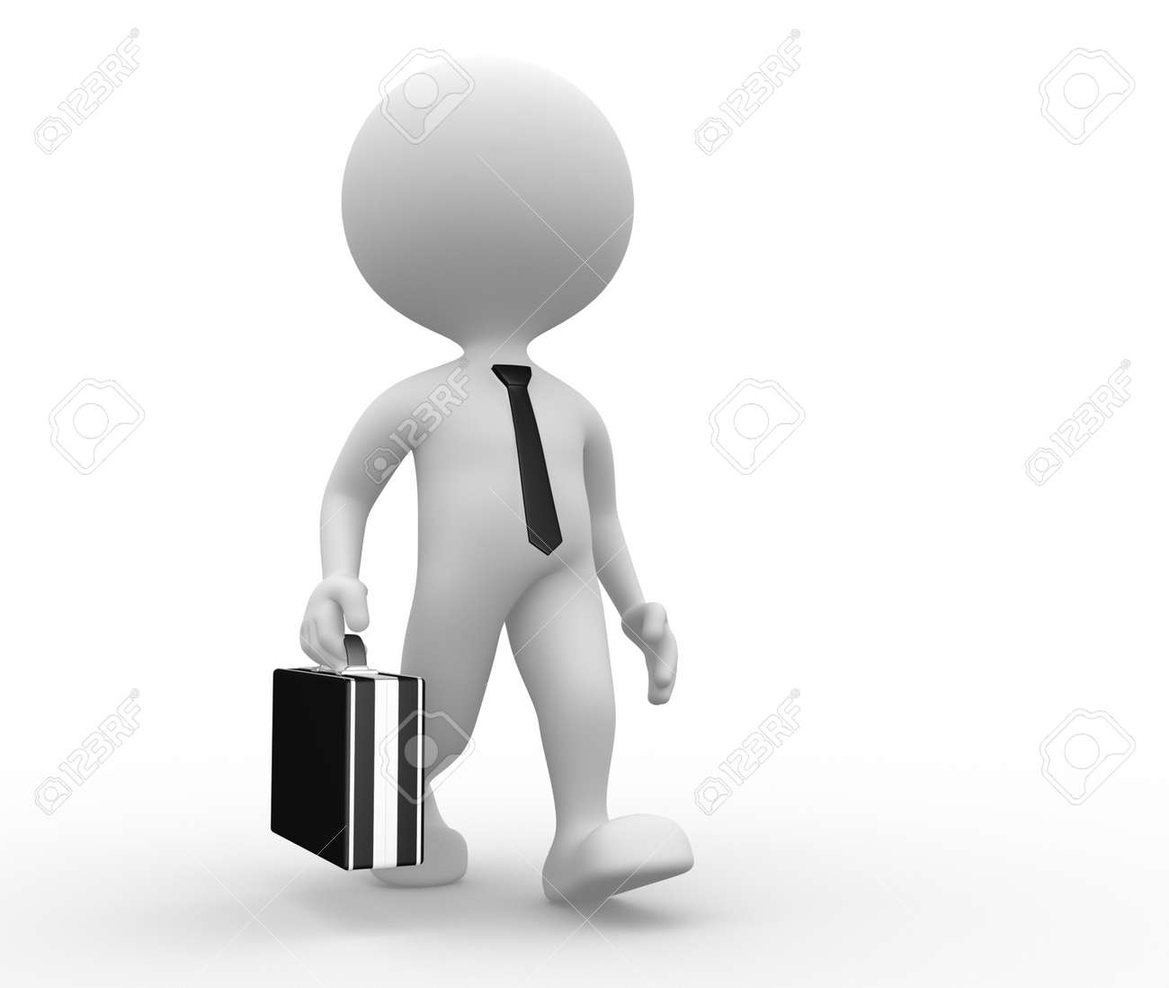 3d people - man, person with a briefcase. Businessman Stock Photo - 21138638