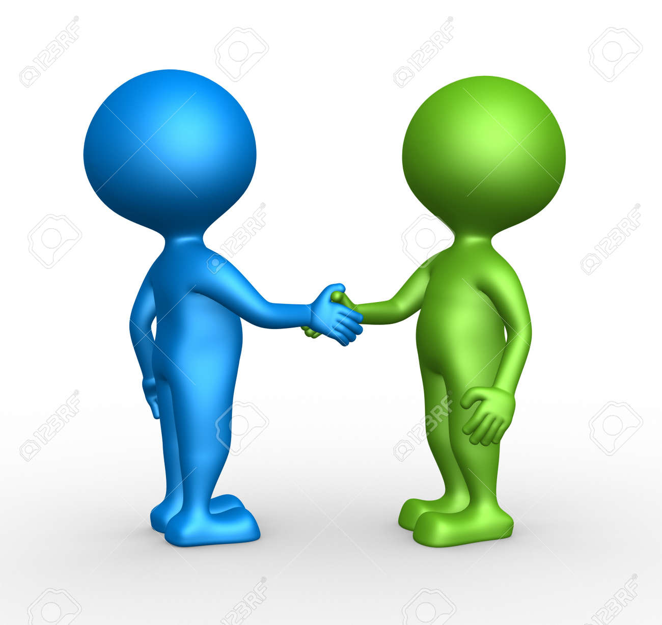 3d people - man, person partnership - handshake. Stock Photo - 21138650