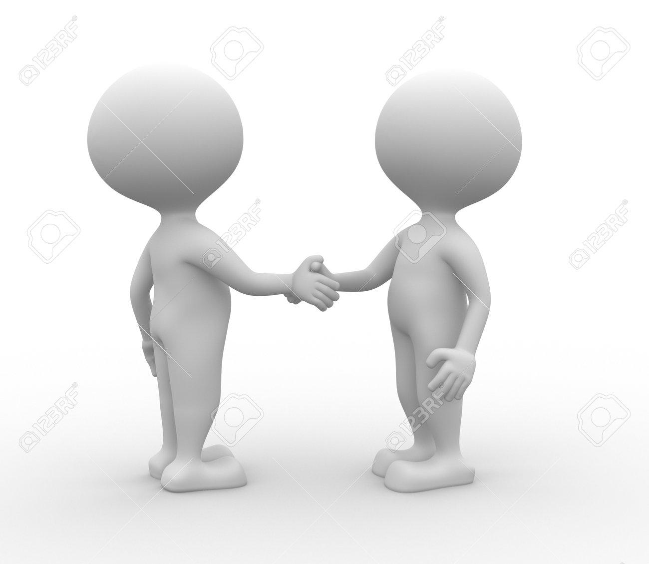 3d people - man, person partnership - handshake. Stock Photo - 21138651