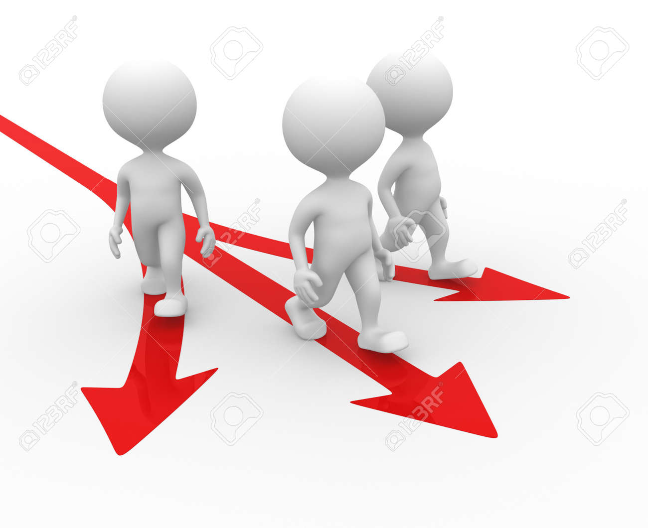 3d people - man, person and directional sign. Arrow Stock Photo - 21138672