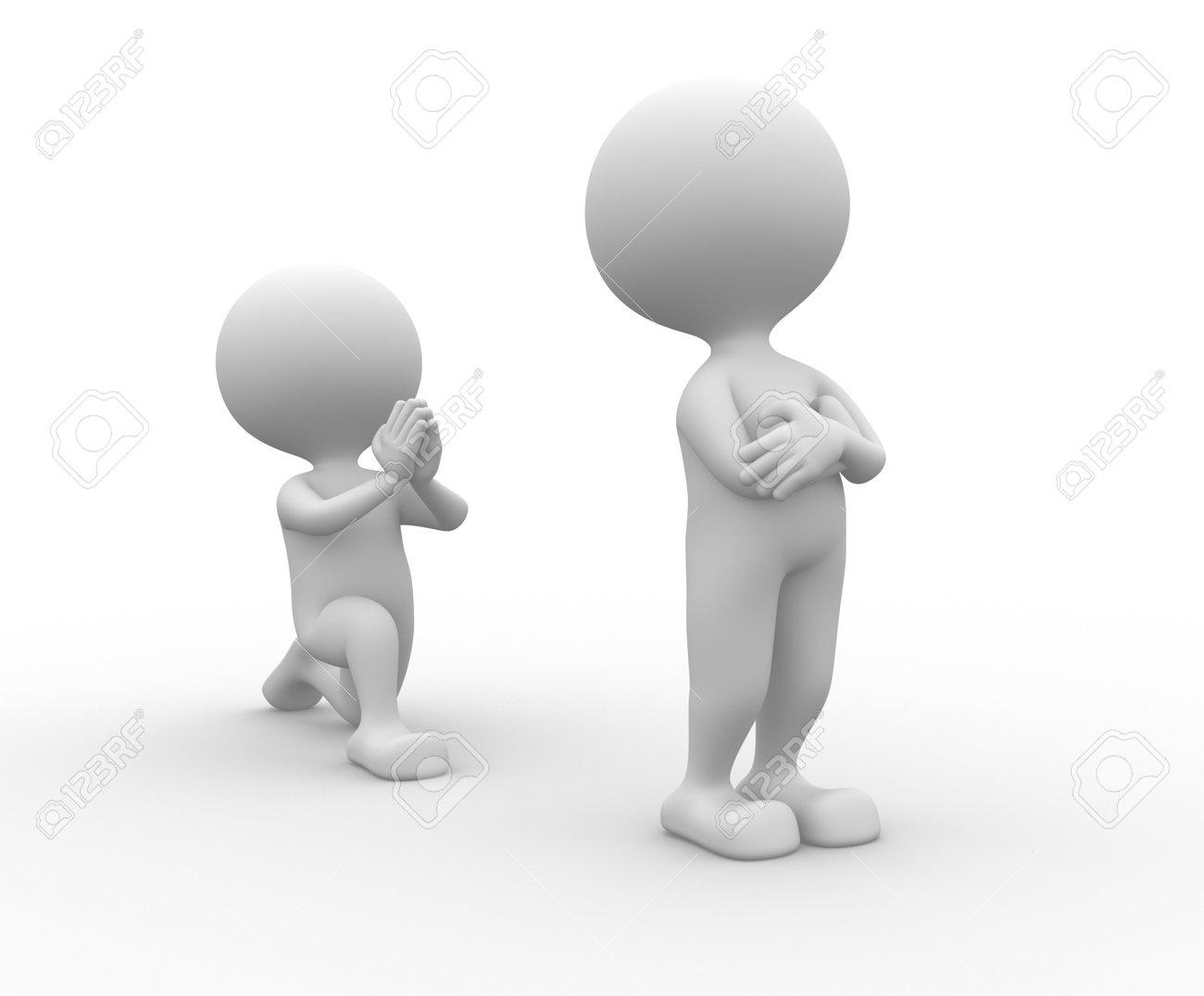 3d Gente - Hombre, Persona De Rodillas Pidiendo Perdón Fotos ...