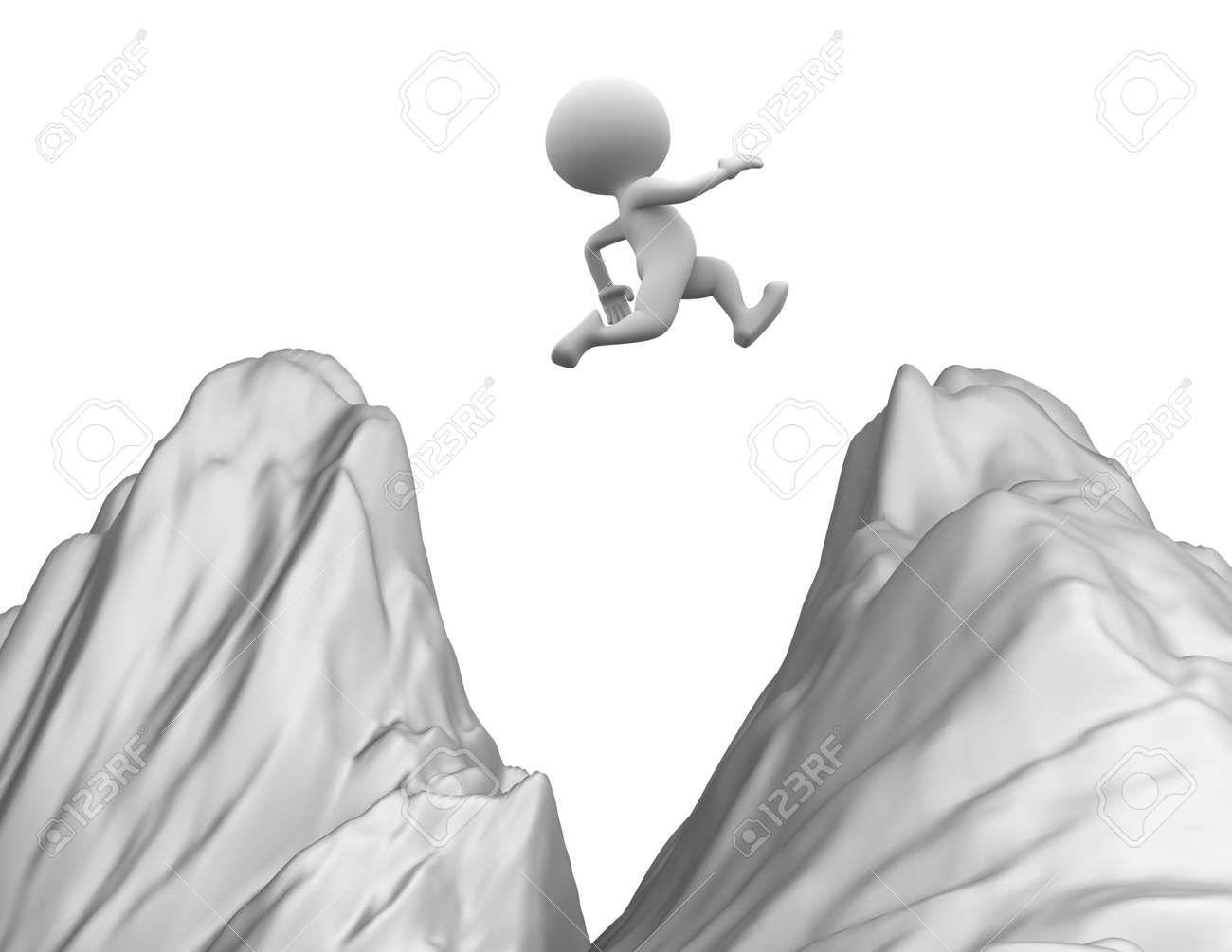 3d people jumping Stock Photo - 21924605
