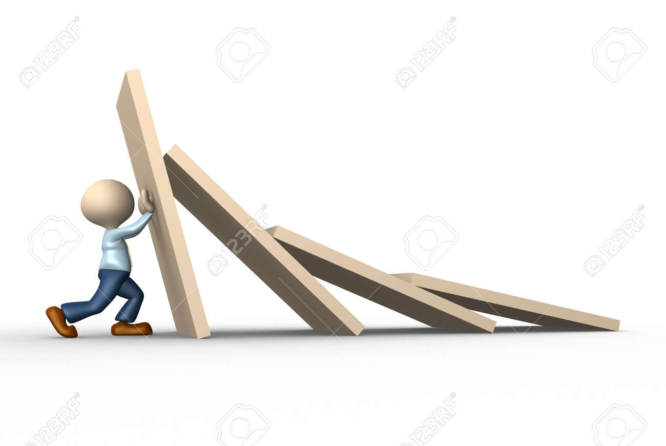 domino effect stock photos images royalty domino effect domino effect 3d people man person stopping domino effect