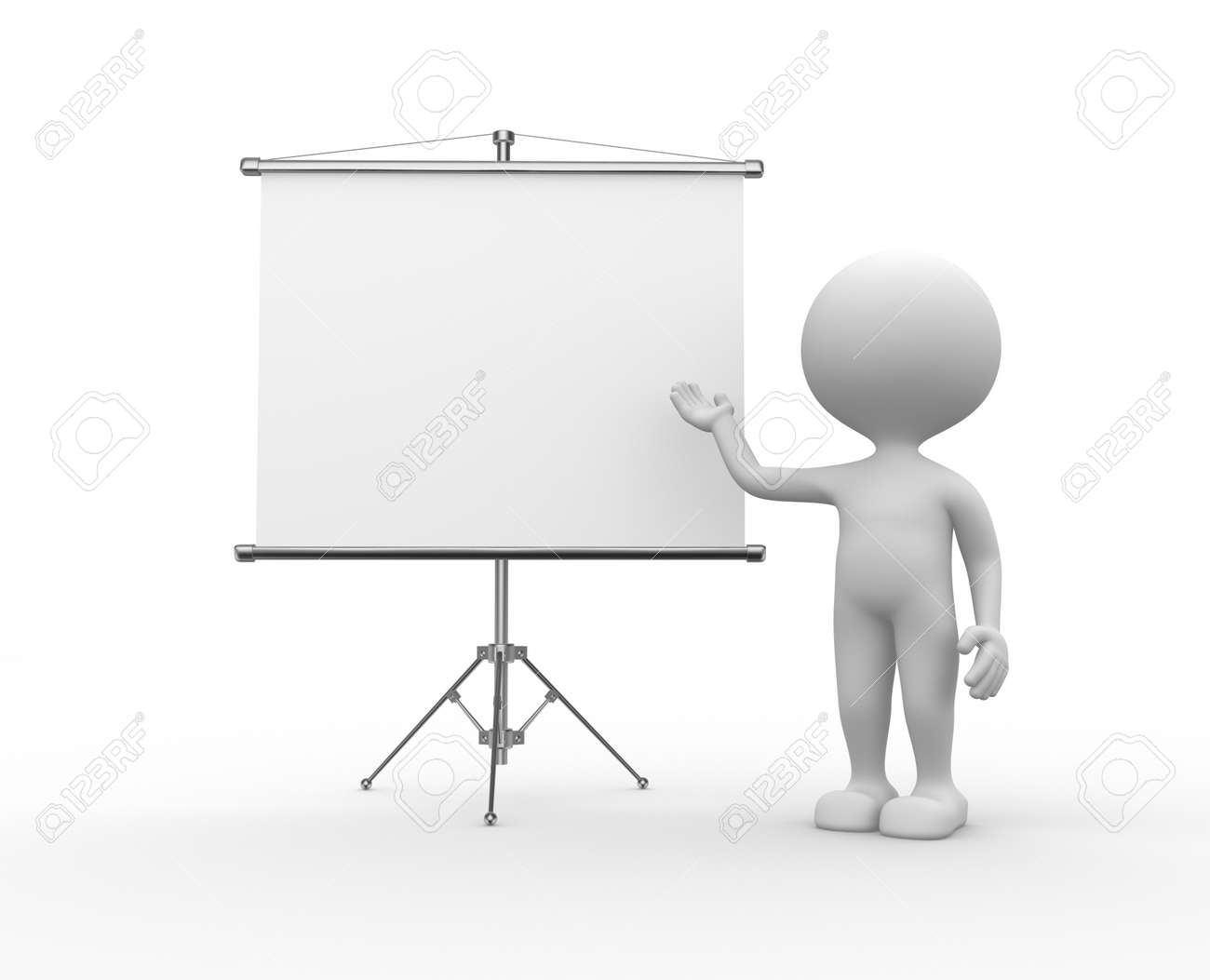 3d people men person and a flip chart stock photo picture and