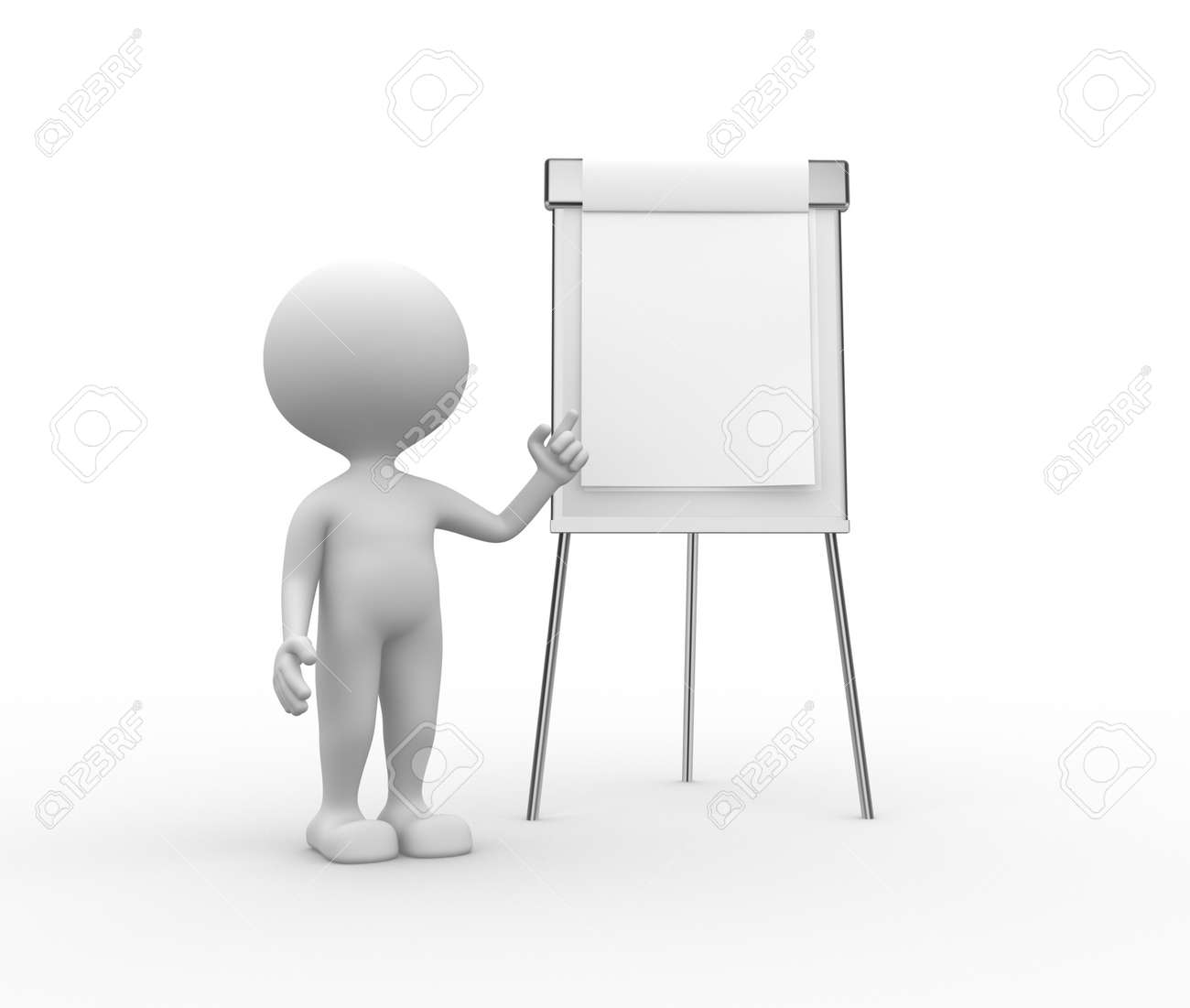 3d people man person with flip chart stock photo picture and