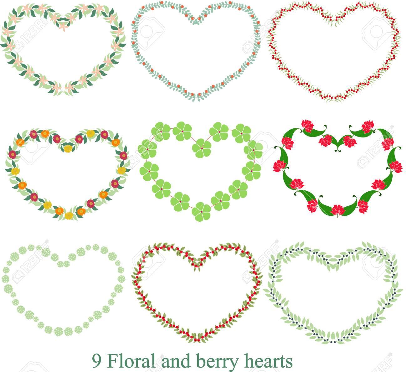 Del Corazón Floral De 20x20 Para Imprimir Arte Valentine Impresión