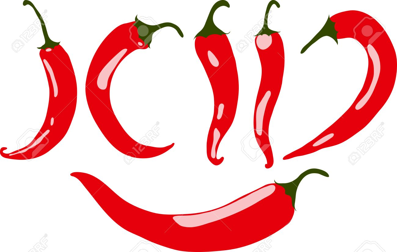 red chili pepper vector illustration isolated on white background rh 123rf com chili pepper vector free download chili pepper vector art