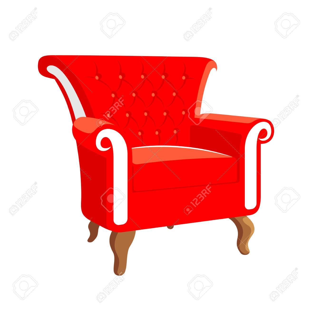 French Baroque Furniture. Rococo Armchair. Armchair Vector Illustration  Stock Vector   61014730