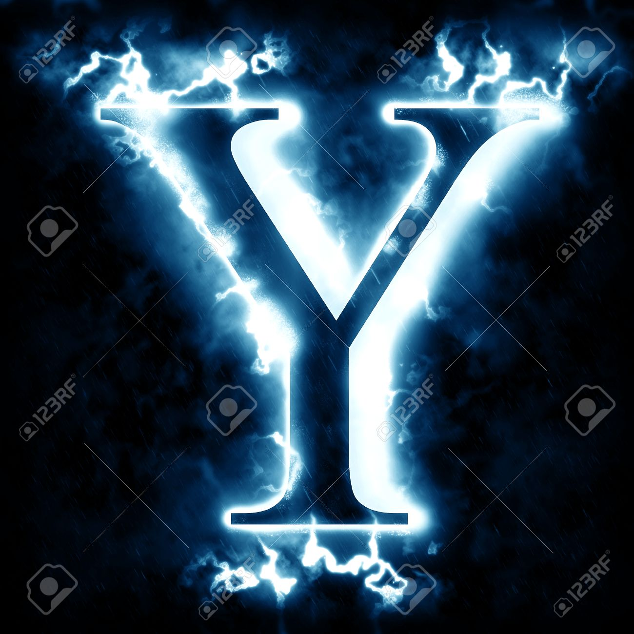 Lightning letter y stock photo picture and royalty free image lightning letter y stock photo 46712288 altavistaventures Choice Image