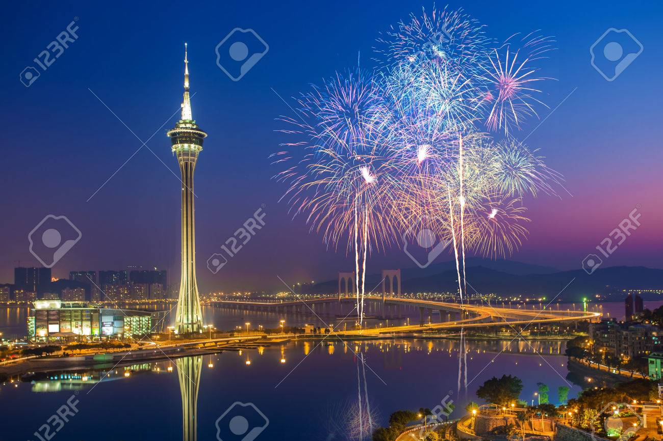 Macao Fireworks Chine Banque d'images - 30428964