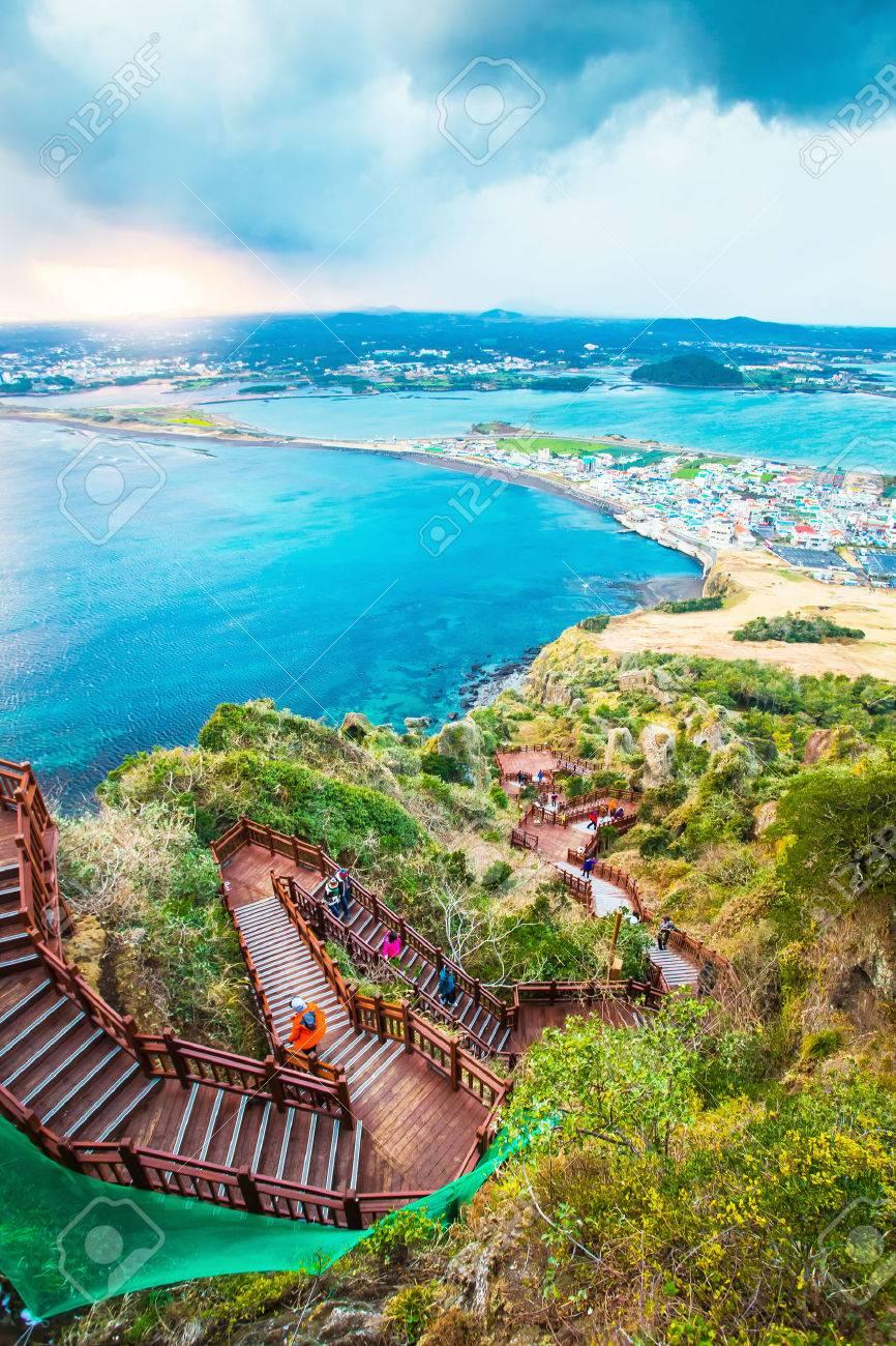 Jeju do beach Island, South Korea Banque d'images - 31593670