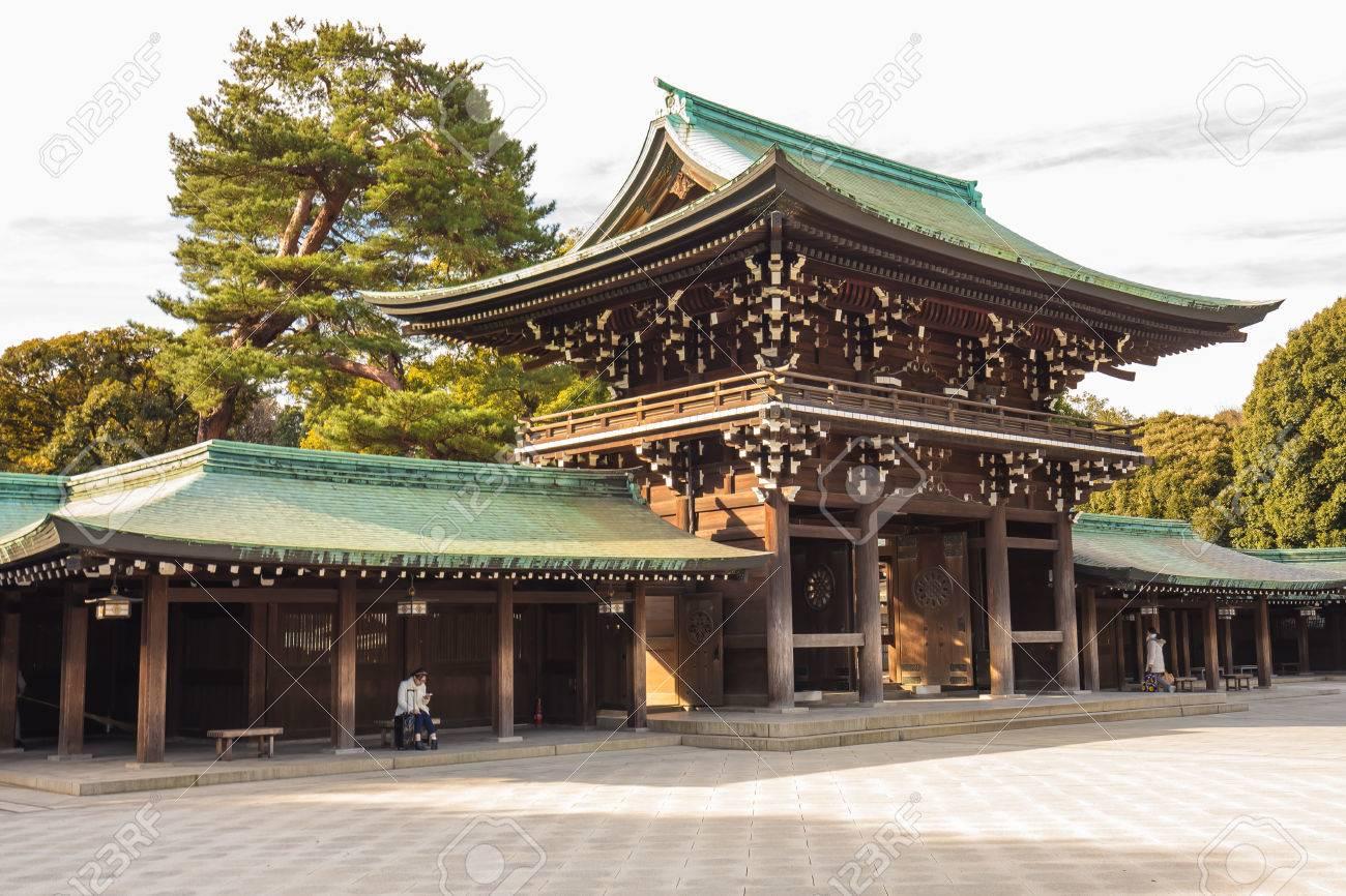 Meiji-jingu in Tokyo, Japan. Banque d'images - 36979239