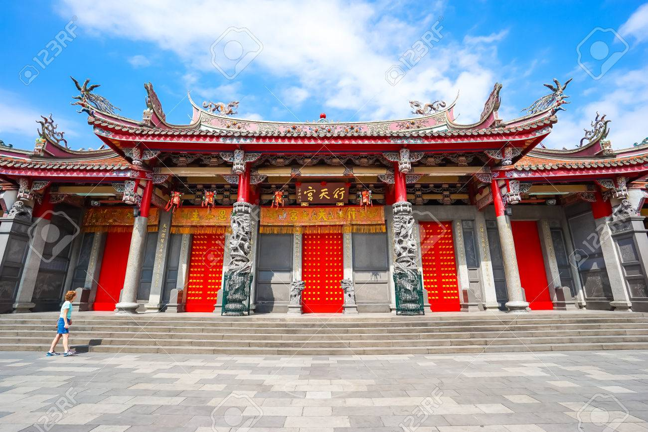 Xingtian Temple in Taipei, Taiwan. Banque d'images - 48050360