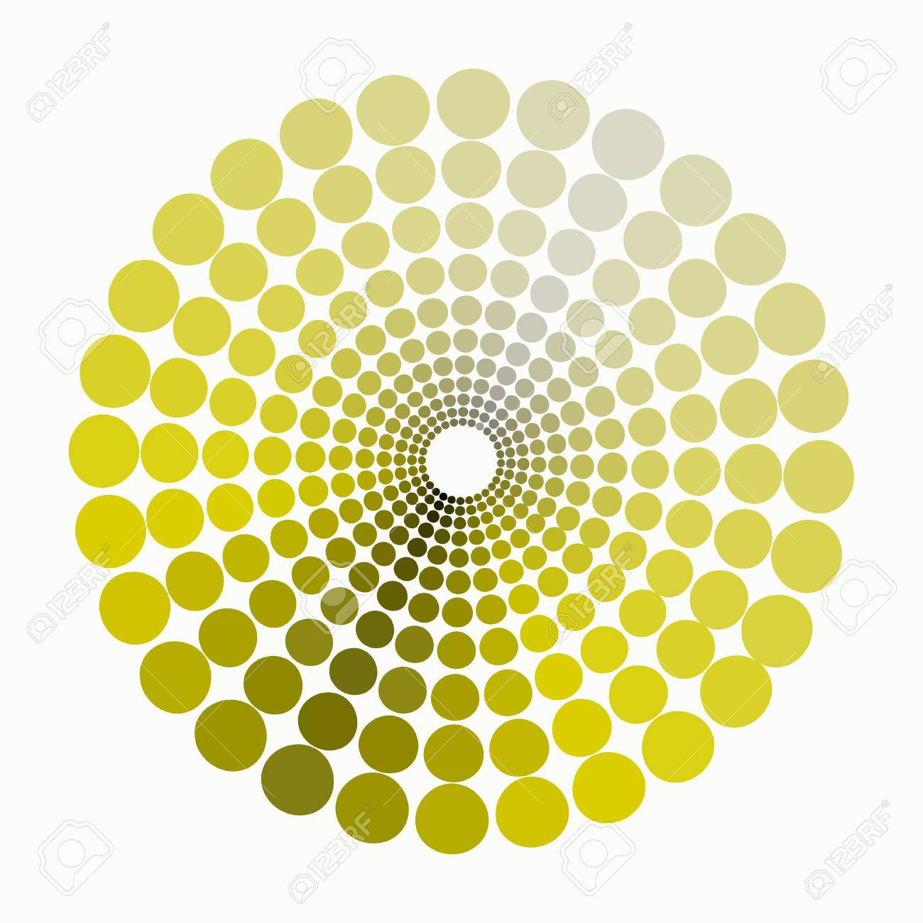 Shades Of Yellow Color Circle Dim Shades Of Yellow Patternvector Illustration