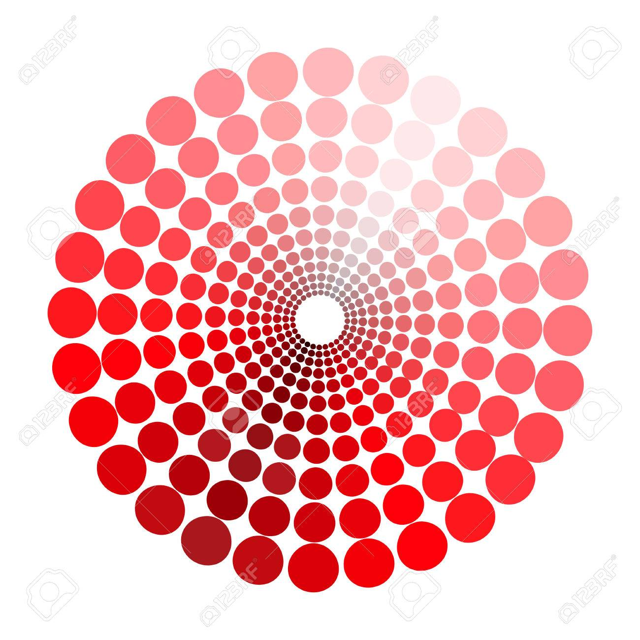 Color Circle Pattern Shades Of Red Vector Illustration Stock