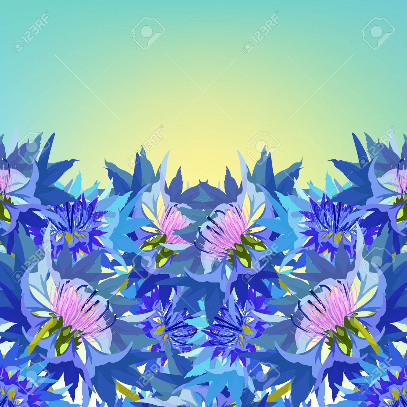 Postcard cornflower of wild flowers at dawn vector illustration postcard cornflower of wild flowers at dawn vector illustration stock vector 63431689 izmirmasajfo Choice Image