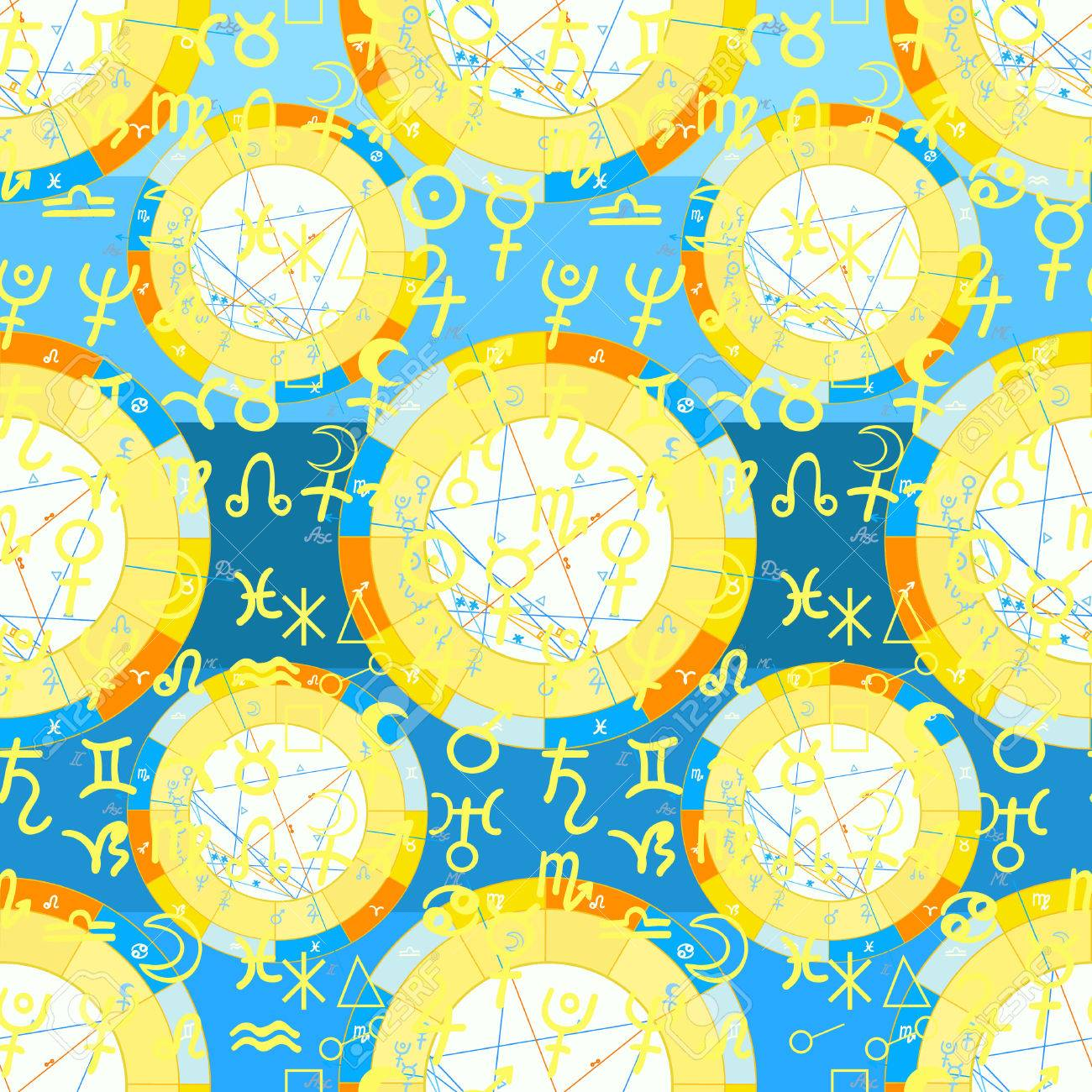 Seamless pattern natal astrological chart zodiac yellow signs seamless pattern natal astrological chart zodiac yellow signs vector illustration stock vector 68184890 nvjuhfo Image collections