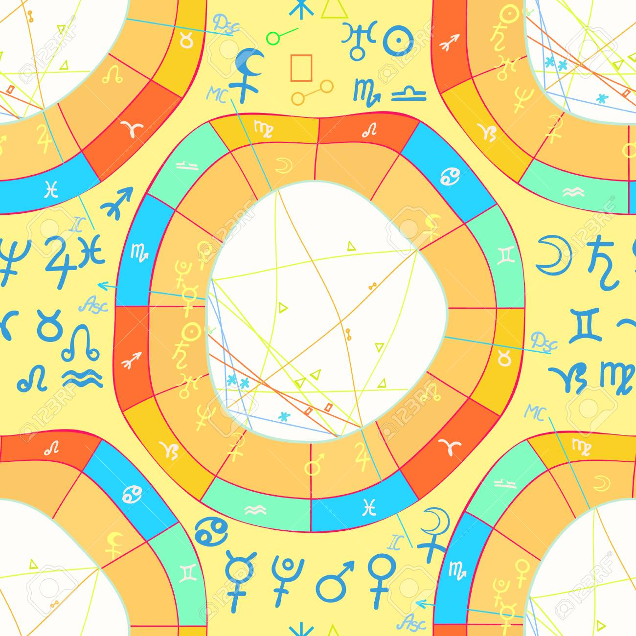Seamless pattern natal curved astrological chart zodiac sign seamless pattern natal curved astrological chart zodiac sign vector illustration stock vector 68184891 geenschuldenfo Choice Image