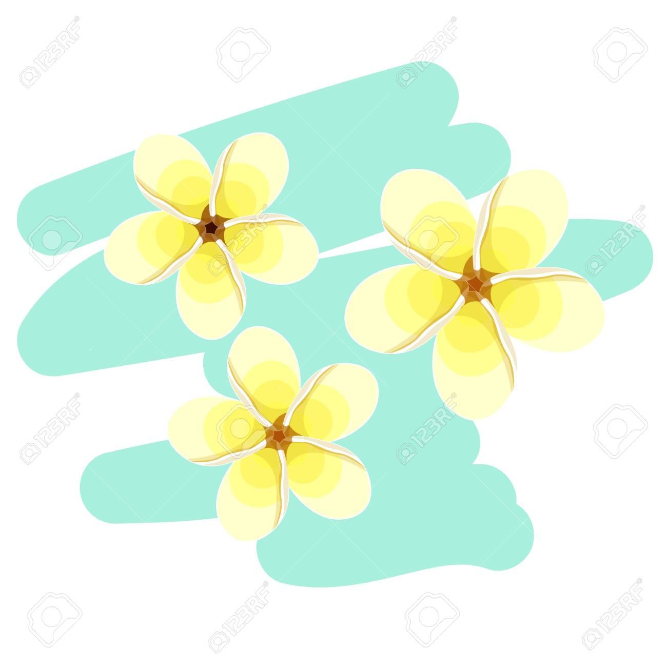 Hawaiian plumeria flower card exotic vector illustration royalty hawaiian plumeria flower card exotic vector illustration stock vector 70458480 izmirmasajfo