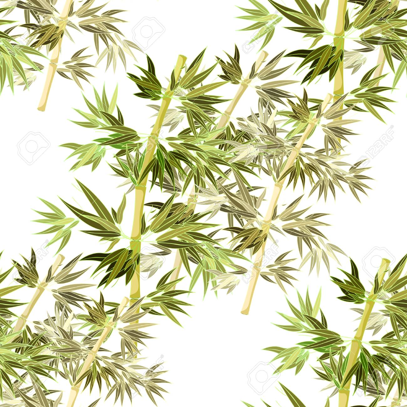 Pattern Bamboo Tree Coloring Vector Illustration Royalty Free ...