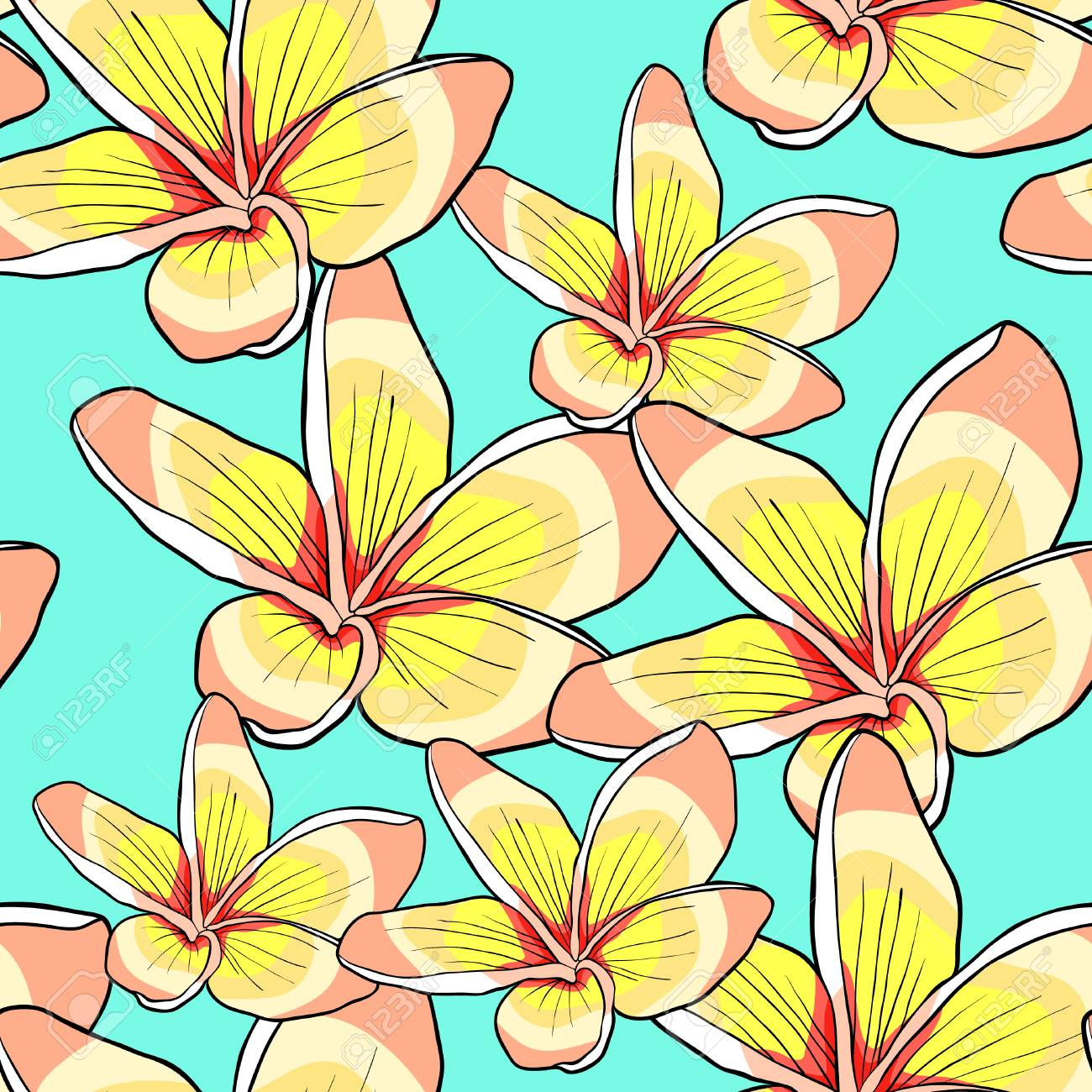 Seamless pattern of hawaiian plumeria flower vector illustration seamless pattern of hawaiian plumeria flower vector illustration stock vector 91032870 izmirmasajfo