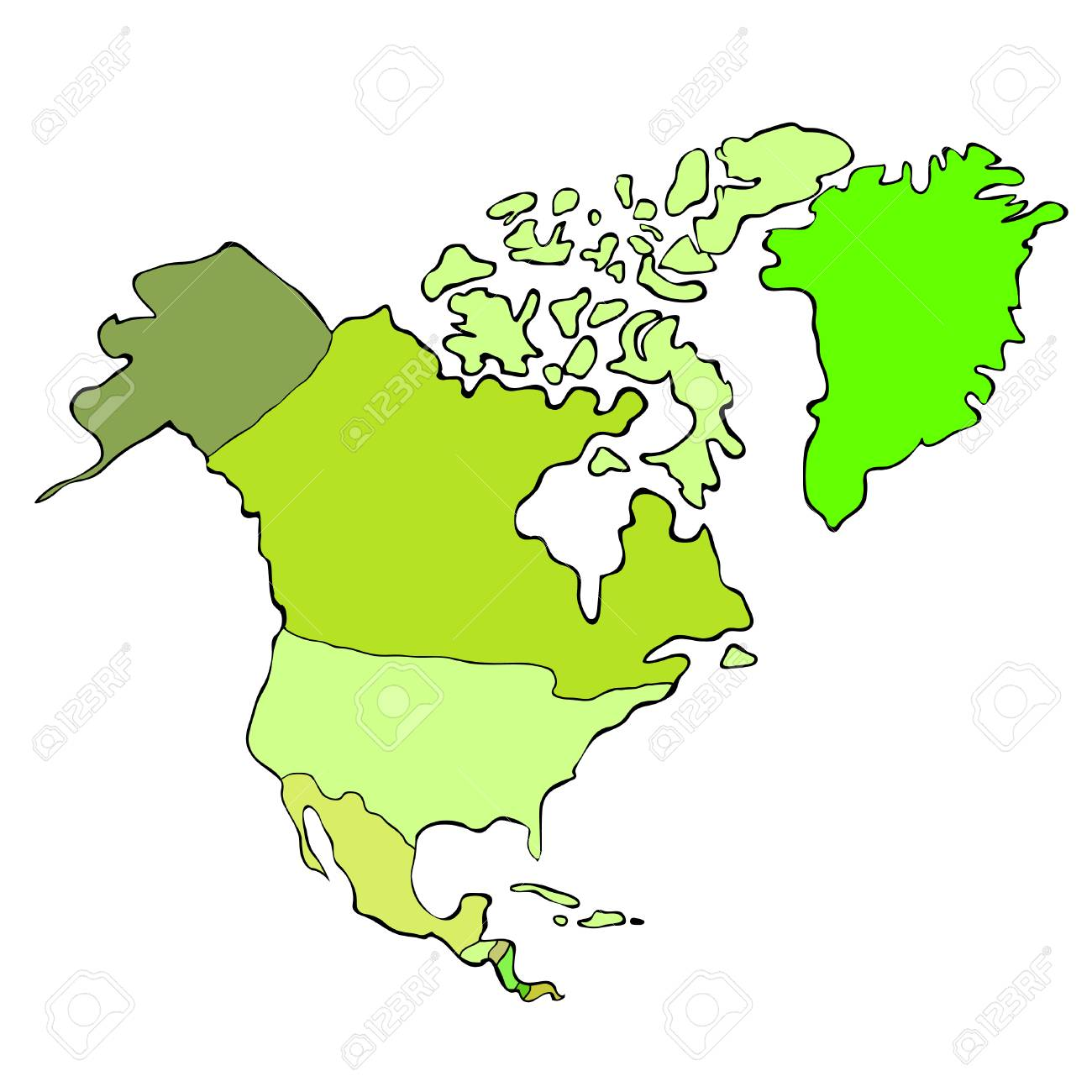 map of the world continent north america vector illustration royalty rh 123rf com north america vector map with states and provinces north america vector