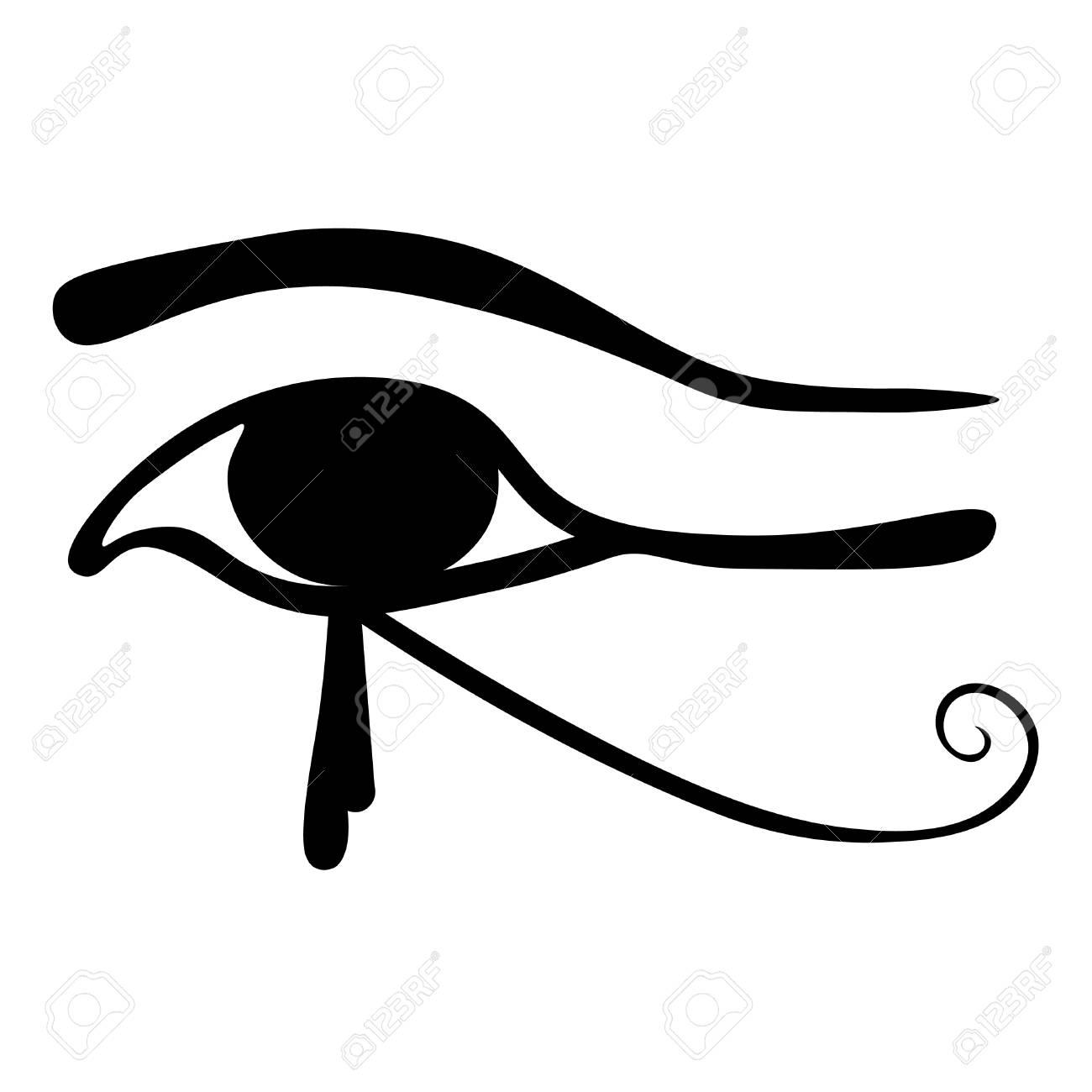 Egyptian Eye Of Horus Symbol Vector Illustration Royalty Free