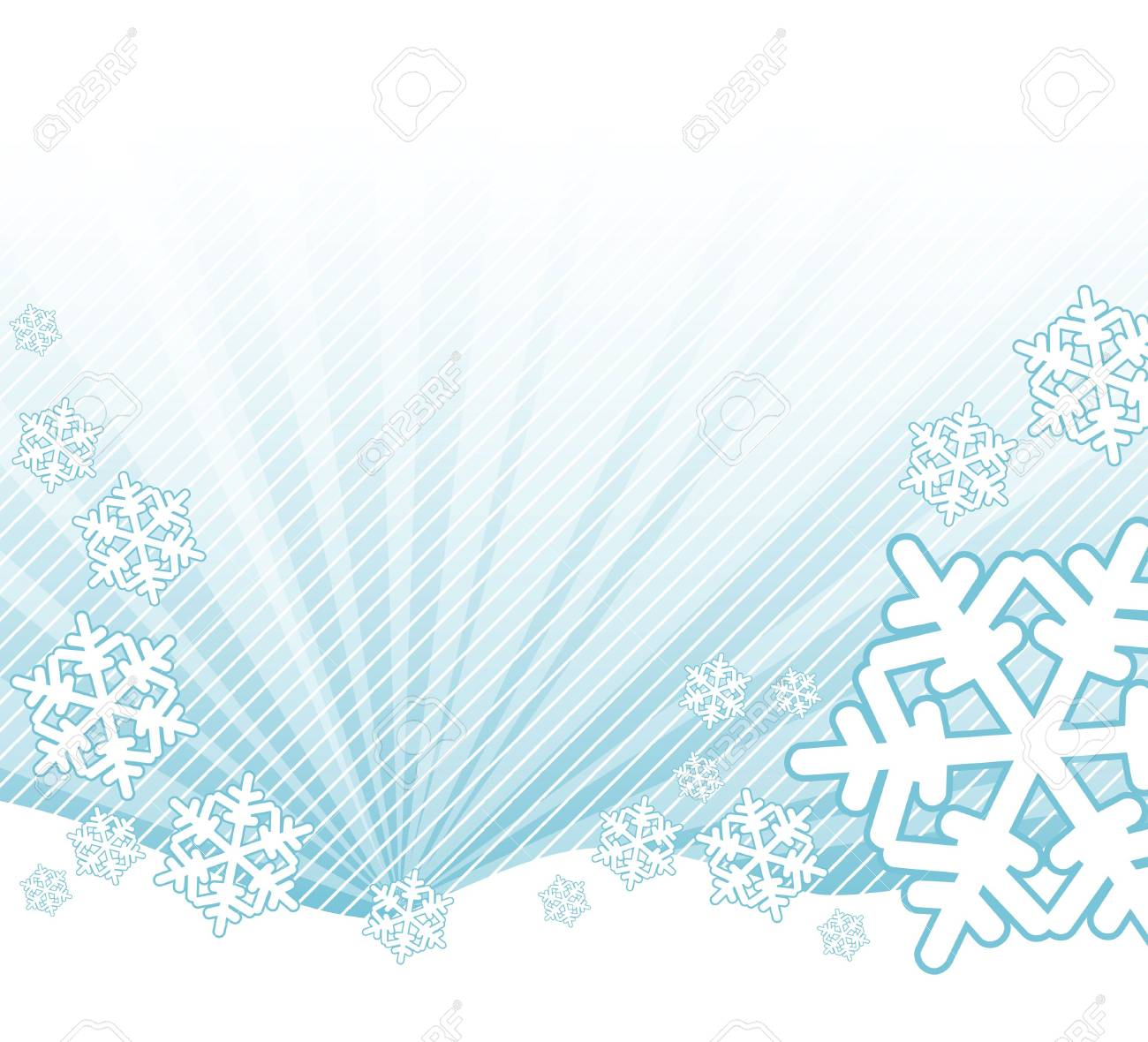 Snow falling on the landscape - abstract illustration Stock Photo - 2136473