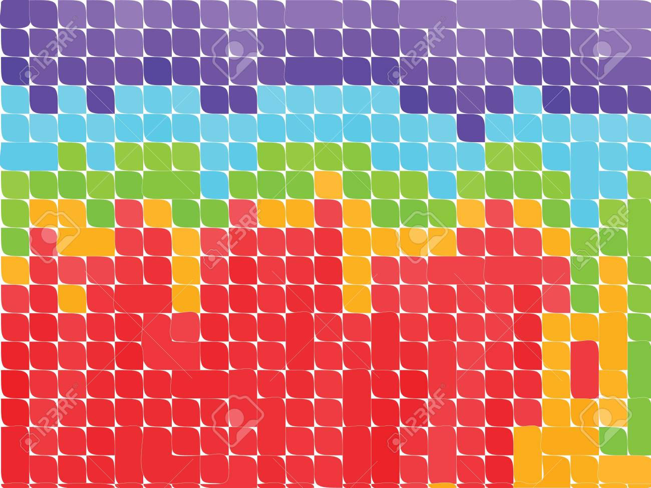 Colorful background made up from various squares Stock Photo - 3281466